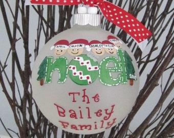 6-9 names Noel Family Ornament