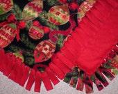 Fleece Blanket - Holiday - Christmas Ornaments