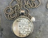 Vintage Dictionary Word Necklace FREE
