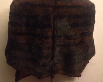 Vintage Women's Fur Shawl Stole Wrap Coat Jacket