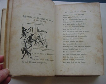 On Sale...1856 First Edition Antique Book  Plu-Ri-Bus-Tan America History Patriotic Poetry Verse Mortimer Thomson Humorist Satire