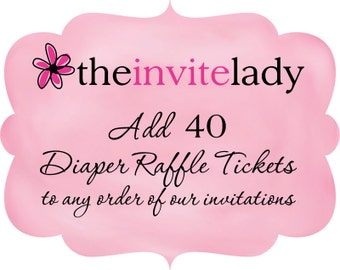 Diaper Raffle Ticket Add On, Set of 40