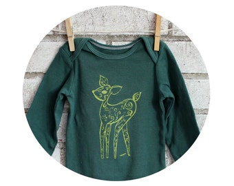 Long Sleeve Fawn Onepiece, Fawn Onepiece, in green or custom colors