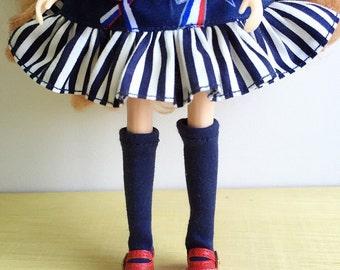 Blythe Long Sock, Navy Blue, Vintage Inspired