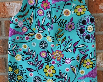 Turquoise Floral Girl's Size 5 Tunic