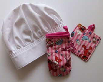 Child's Chef's Hat, Apron Bake Set, Elmo Sesame Street