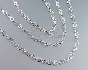 1 meter unique star flower shape link chains, delicate chain, designer style chains, necklace / bracelet chain B095-BR
