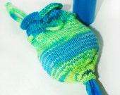 Hand Knit Pet Waste Bag Holder or Dispenser Seahawks Pride No1