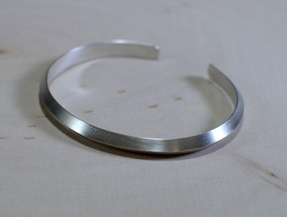 sterling silver cuff bracelet with an ultra modern design
