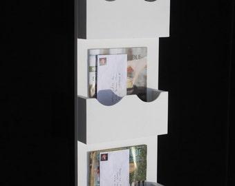 Triple Slot Mail Organizer - Mail Sorter - Mail and Key Holder - Magazine Holder