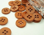 "Warm Medium Brown 1/2"" (13 mm) buttons, Qty 76"