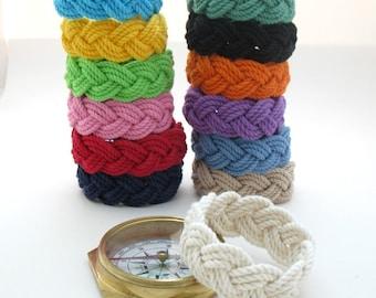 13 Colors Sailor Knot Bracelet Cotton Rope Bracelet, You Choose the Sailor Knot Color
