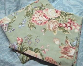 """NEW CHARLOTTE MINT  Standard Pillow Shams  - Ralph Lauren Fabric  - Standard 20"""" x 26"""""""