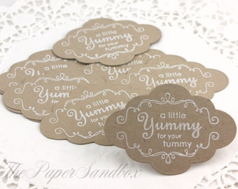 10 Cookie Tags, Bakery Tags, Candy Tags, Cookie Tags, Party Favor Tags, Wedding Favor Tags, Handmade Gift Tags, Gift Wrapping