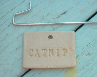 Handmade Ceramic Catnip Plant Marker