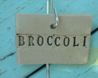 Ceramic Broccoli Plant Marker