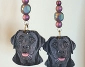 Black Lab Dangle Earrings