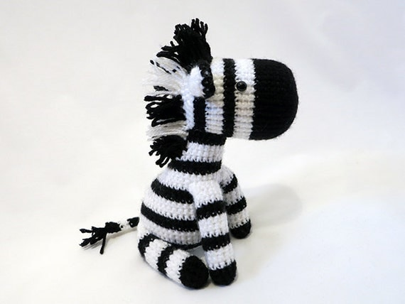 Amigurumi Askina Free Patterns : MADE to ORDER Amigurumi Zebra Plush Crochet Zebra Doll