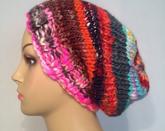 Multi Colored Slouch Hat Free Shipping