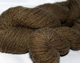 30% off STORE CLOSING SALE Tree Bark Brown Lambswool Cashmere Yarn, Recycled Yarn, Fingering Weight Yarn - 384 Yards