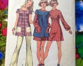 1971 Simplicity 9834 Mini Dress, Smock and Pants Misses Size 14