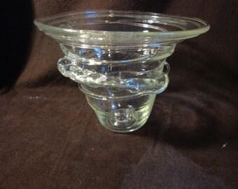 Vintage Art Glass Vase Hand Blown