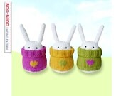 Buuny Boo's, toy / decoration knitting pattern