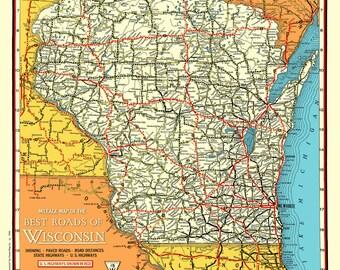 Forward Wisconsin Culture Map Print