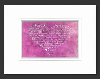 LOVE Languages Art Prints - 8.5 x 11 - Watercolor Collection: Sweetheart