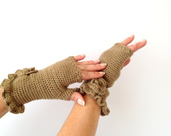 Christmas Gift, Camel Belted Mittens, Handmade Mittens, Christmas, Knitt Mittens, Handknitt, Holidays