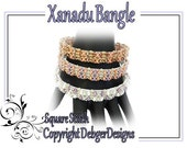 Xanadu Bangle - Tila Beading Pattern Tutorial