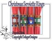 Christmas Serviette (Napkin) Ring Holders-Beading Pattern Tutorial