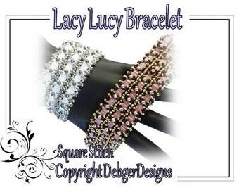 Lacy Lucy Bracelet- Tila Beading Pattern Tutorial