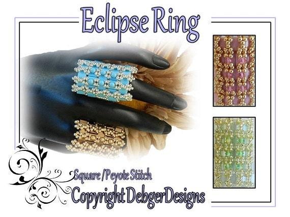Eclipse Ring - Tila Beading Pattern Tutorial