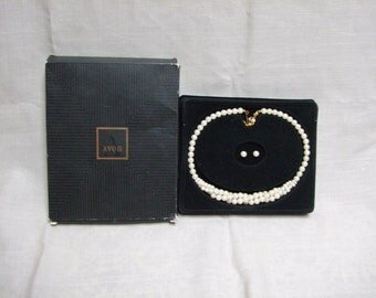 Avon Portraits of Love Gift Set Pearl Necklace and Earrings