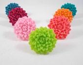 Lime Green Flower Ring, Stocking Stuffers for Tween Girls, Stocking Stuffer Teen Girl, Gifts Under 5, Tween Jewelry, Green Ring Neon Jewelry