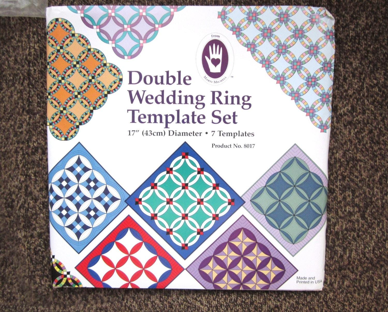 NIB Double Wedding Ring Template Set 17 diameter