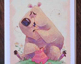Honey Bear Blank Card