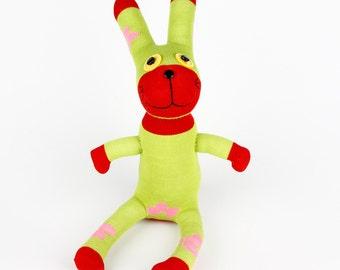 Handmade Sock Rabbit Bunny Stuffed Animal Doll Baby Toys