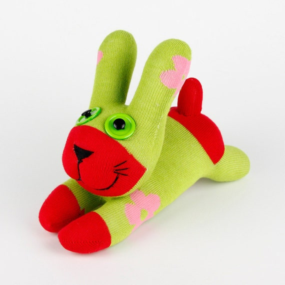 Free Shipping Handmade Sock Rabbit/bunny Stuffed Animal Doll Baby Toys