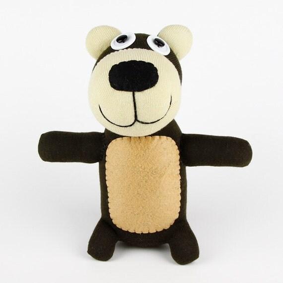 Christmas Gift New year Gift Handmade Original Sock Bear Stuffed Animal Doll Baby Toys