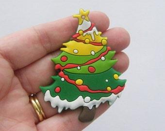 2 Christmas tree pendants 67 x 51mm
