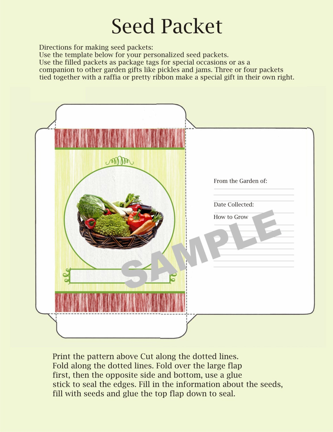 This is a photo of Crafty Printable Seed Packets