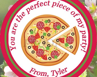 Pizza Party Favor Tag, Pizza Birthday Party, Pizza Movie Night Tag