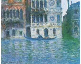 Wooden jigsaw puzzle. PALAZZO DARIO Venice Italy. Claude Monet. Impressionist. Wood, handcut, handcrafted, collectible. Bella Puzzles.