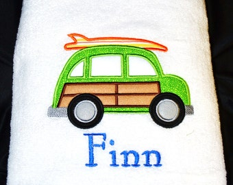 Personalized Towels for Kids - Personalized Beach Towels with Woody Car - SALE Limited Time Only