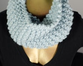 Free Shipping Ice Bue with Metallic Tight Knit Infinity Scarf