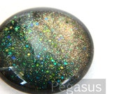 Green Dragon Queen Round Glass Opal Cabochon (3 Piece,6 size options) Fantasy gem for wedding,cosplay,elven costume,steampunk jewelry