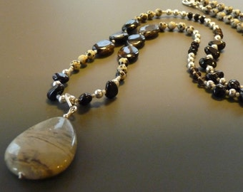Dalmation Jasper necklace with pendant