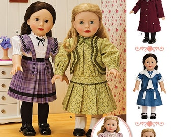 18 inch Doll Clothes Pattern, 18 inch Historical Doll Clothes, 18 inch Doll Coat and Hat, Simplicity Sewing Pattern 1179